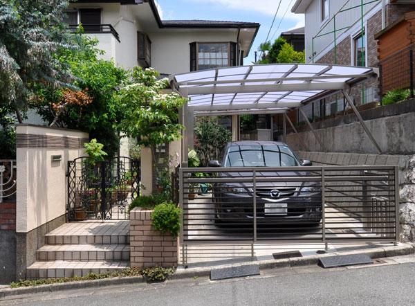 明るく開放的なガレージ・門周りリフォーム – 兵庫県 M様邸