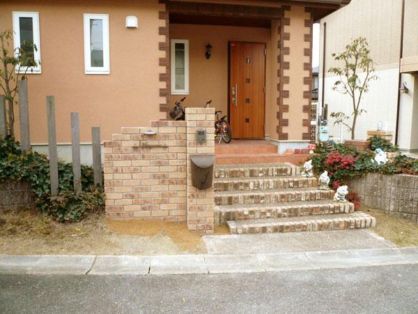 周りの雰囲気に合った門柱 – 大阪府和泉市 M様邸