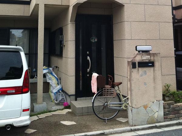 光や風を通すオリジナル機能門柱 – 大阪府柏原市 K様邸の施工前