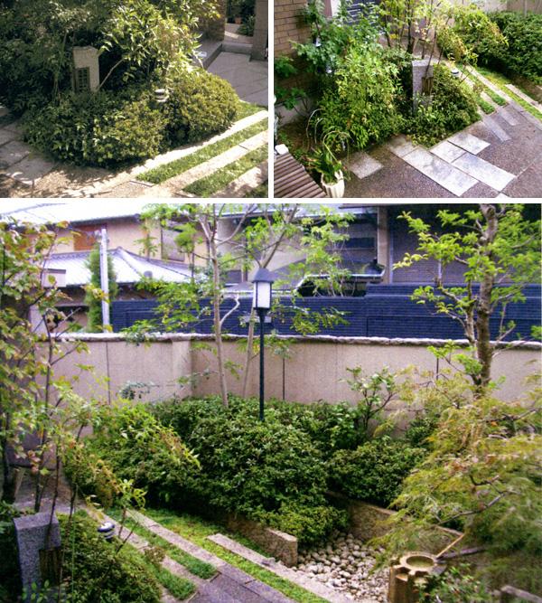 落ち着きのある現代和風庭園 – 大阪府大阪市 K様邸の施工前