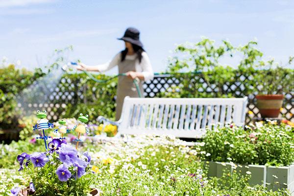 戸建の庭やマンションには、植栽が必要。