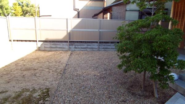 眺める庭 – 大阪府堺市 F様邸の施工前