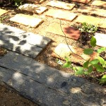 コンクリート製の枕木材