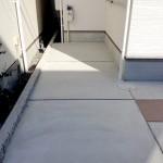 通常使うガレージは土間コンクリート仕上げ