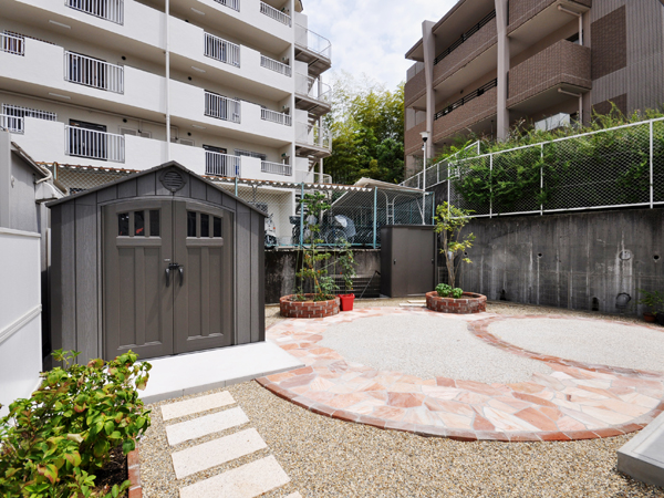 丸みのある優しいお庭へ – 豊中市K様邸