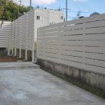 施工後:隣地側目隠しフェンスを木樹脂製にしました