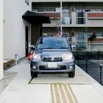 施工前:自動車も青空駐車でした。