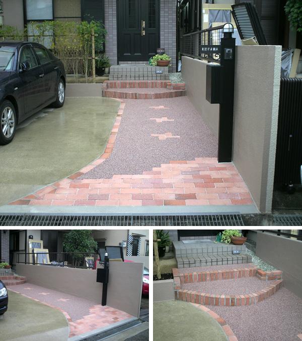 2台駐車できる明るいアプローチにリフォーム – 大阪府豊中市 K様邸