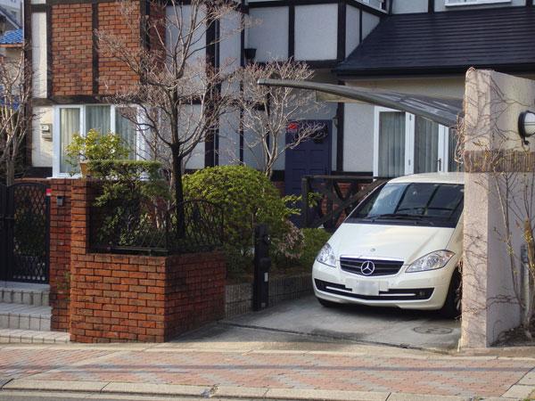 セキュリティーも考慮した風格ある門構え – 大阪府豊中市 N様邸の施工前