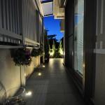 施工後:夜は埋め込みライトで雰囲気が変わります