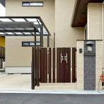 建物と合わせた落ち着きのある門柱