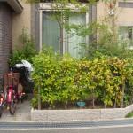 施工前:植木と生垣が大きくなり、利用できるスペースがありませんでした