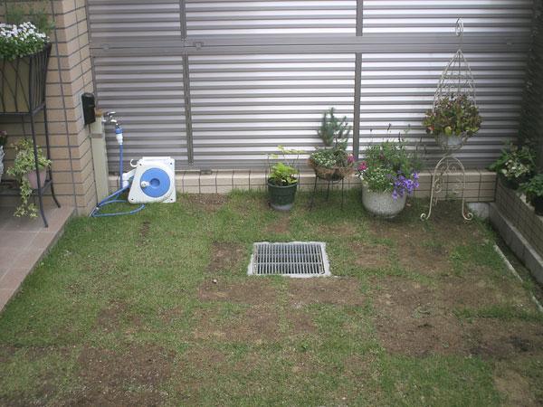 犬と子供が遊べる温かい空間の庭 – 大阪府豊中市 Y様邸の施工前