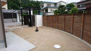 大阪エクステリア シンプル デザイン 板石 植栽