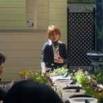 浪花のほっこりガーデンプランナー唐津攝子先生のハーブ講習
