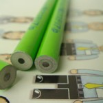 新聞紙を再利用した鉛筆