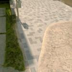 既設の土間コンクリートとの境目も綺麗です