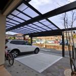 施工後:カーポートの梁を延長して広々な空間を維持