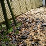 ゴロタ石、栗石を自然に融合させ飽きのこないスタイルに