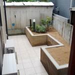 新しくできた花壇