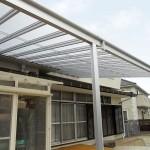 施工後:テラス屋根をつけて雨漏りとウッドデッキの暑さを軽減