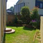 庭施工前:芝生が広がりお手入れが大変でした
