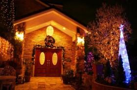 美しく飾られた玄関