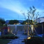 和モダンの庭廻りと+Gのマッチした空間