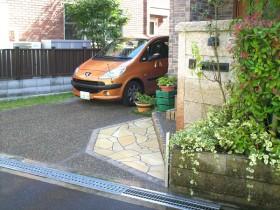 After:段差をなくして駐車スペースを2台確保