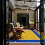 施工後:ガーデンルームへ出やすいようFIX窓をフルオープン窓に