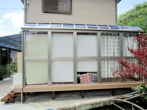 用途がたくさんのテラス囲い – 大阪府千早赤阪村 Y様邸