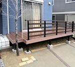 木目調のフェンスがおしゃれなウッドデッキ~羽曳野市 K様邸の詳細はこちら