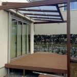 既存デッキと新設のテラス屋根