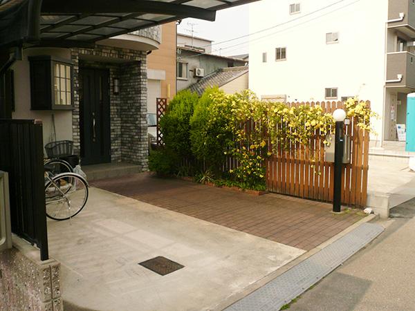 お施主様と作り上げた新たなエクステリア&ガーデン – 大阪府東大阪市 L様邸の施工前