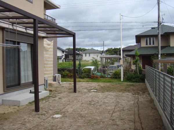 シンプルモダンガーデン – 兵庫県 N様邸の施工前