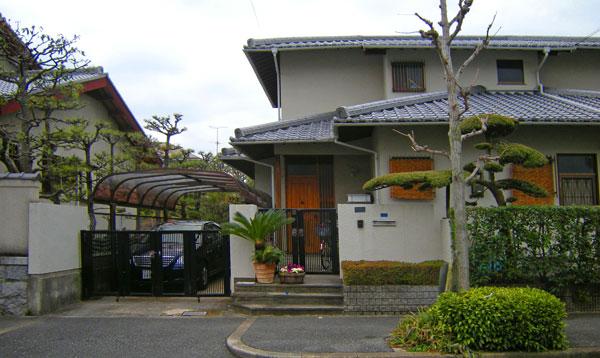 トータルコーディネートのクローズ外構 – 大阪府茨木市 M様邸の施工前