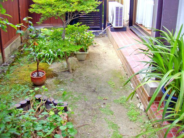 お手入れしやすいお庭空間に – 大阪府茨木市 O様邸の施工前