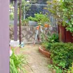 水はけが悪く、植栽スペースのみの利用となっていました