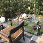 施工したお庭に施主様が手を加えられ、とても素敵な和風モダン庭園に!