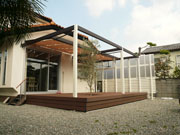 空間を一体化させたリゾートガーデン – 大阪府泉大津市 H様邸の詳細はこちら
