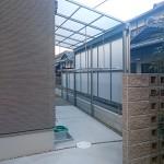 洗濯物干しスペース テラス屋根