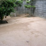 施工後:裏庭部分です。雑草撤去大変でした。