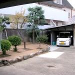 施工後:車の出入りがし易いように花壇と植木の撤去しました。