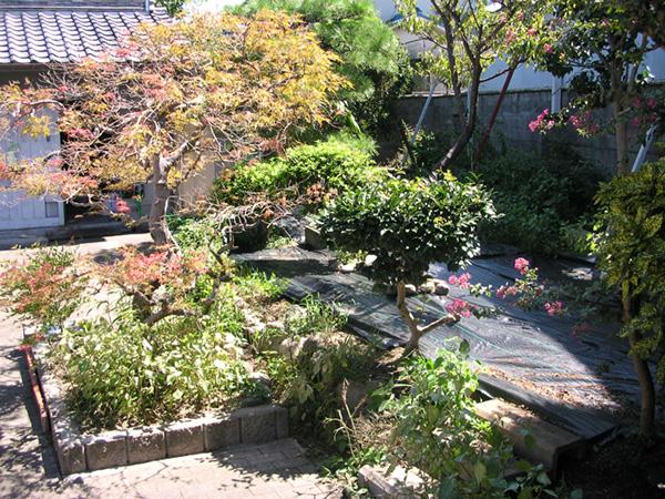 スッキリするお庭 – 大阪府松原市 Y様邸の施工前