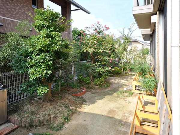 憧れのガーデンルームのあるお庭 – 大阪府箕面市 T様邸の施工前