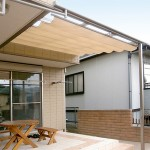 施工後:屋根と日除けを設置。快適な空間になりました。