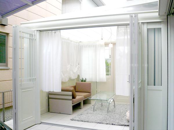 奥行き感のあるガーデンルーム – 兵庫県西宮市 Y様邸