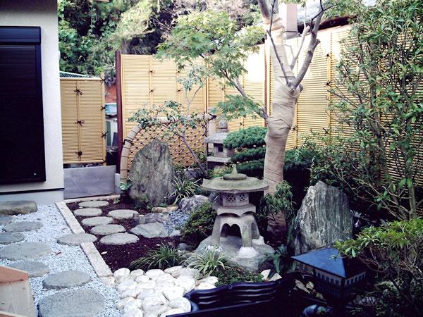 和の庭のリフォーム・池でカメを飼える – M様邸