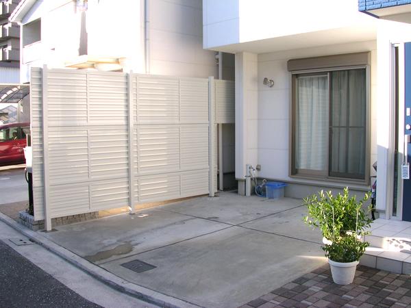 海が大好きなお施主様の目隠しフェンス – 大阪府堺市 K様邸