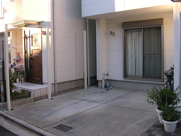 海が大好きなお施主様の目隠しフェンス – 大阪府堺市 K様邸の施工前